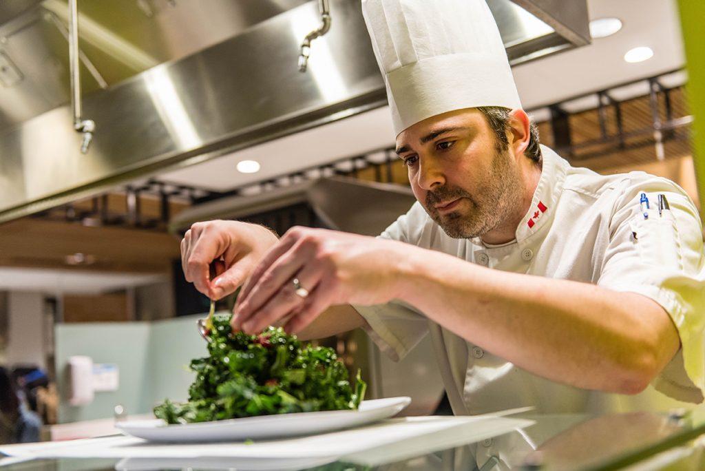 Chris Grosse Plating A Salad