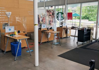 New cash registers in the UBC Bookstore lobby